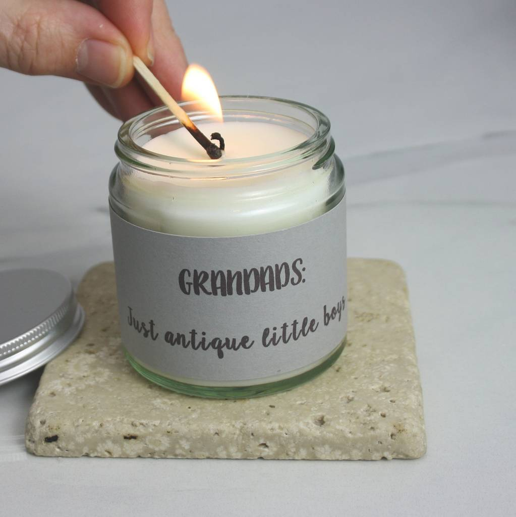 original grandad organic scented candle