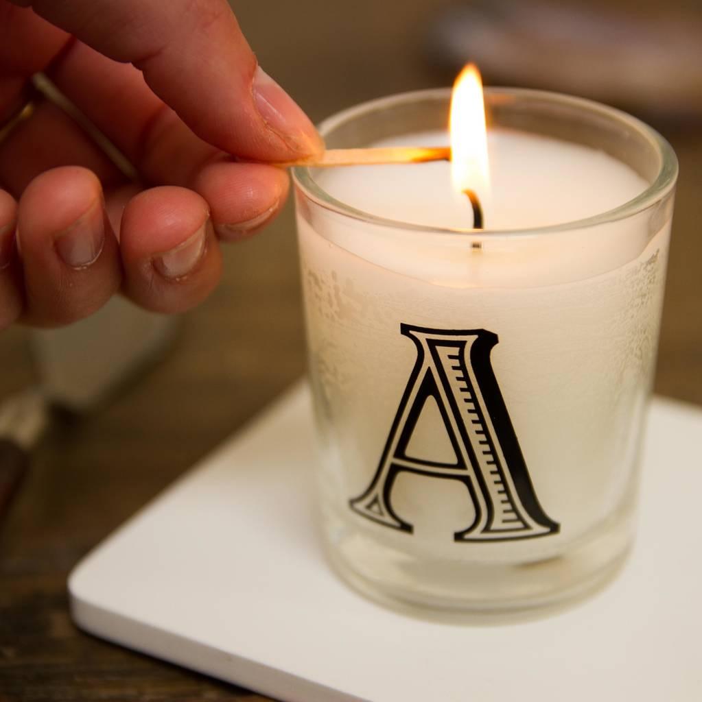 original alphabet candles