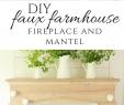 Fireplace Shelf Ideas Inspirational Diy Faux Farmhouse Style Fireplace and Mantel