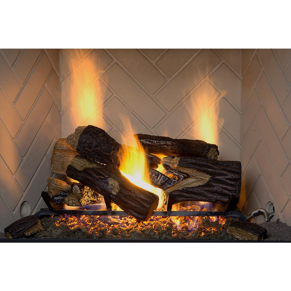 emberglow vented gas fireplace logs bro24dbrnl 60dc 64 1000