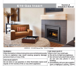 Fireplace thermocouple Luxury Regency Fireplace Products E18 Installation Manual