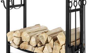 13 Elegant Fireplace tool Set with Log Holder