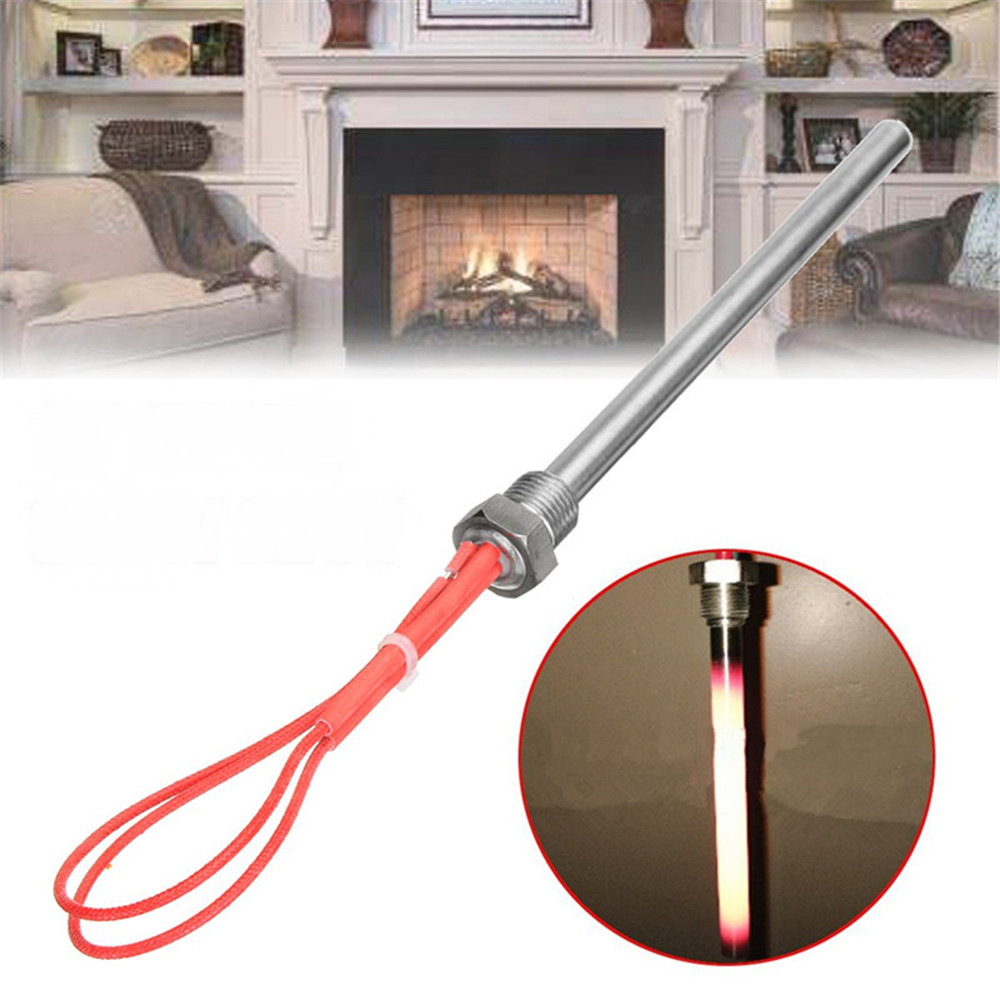 Fireplace Tubes Unique 300w 220v 140x10mm Igniter Hot Rod Heating Tube Ignitor Starter for Fireplace Grill Stove Part