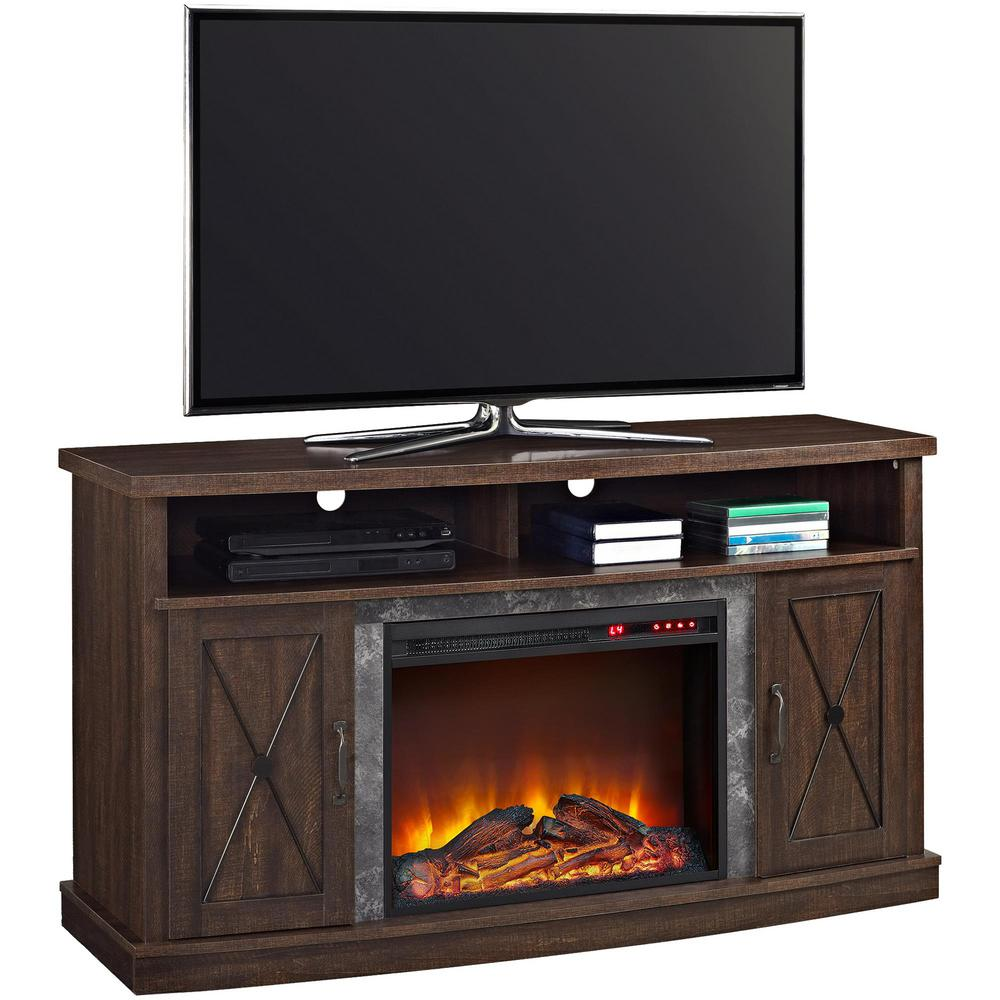 espresso ameriwood fireplace tv stands hd 4f 1000