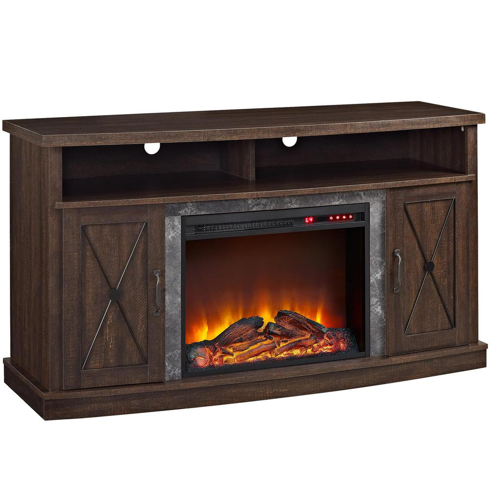 espresso ameriwood fireplace tv stands hd 64 1000