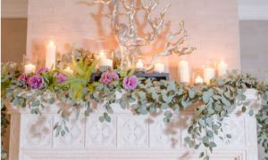 19 Lovely Fireplace Wedding Decor