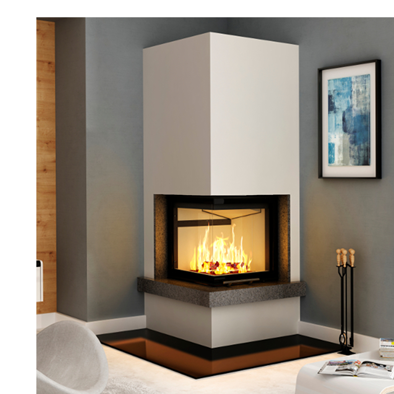 Fireplaces Etc Inspirational Kaminbausatz Imperial Smart 2lth 7kw Eckkamin Links Hebetür