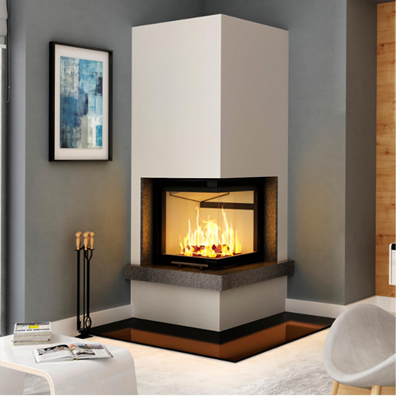 Fireplaces Etc Luxury Kaminbausatz Imperial Smart 2pth 7kw Eckkamin Rechts Hebetür