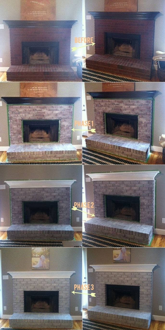 bad b0c1561bfc8253a eef3 brick fireplace paint fireplace update
