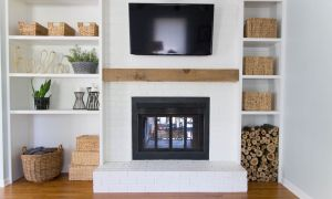 28 Lovely Floating Shelves Around Fireplace