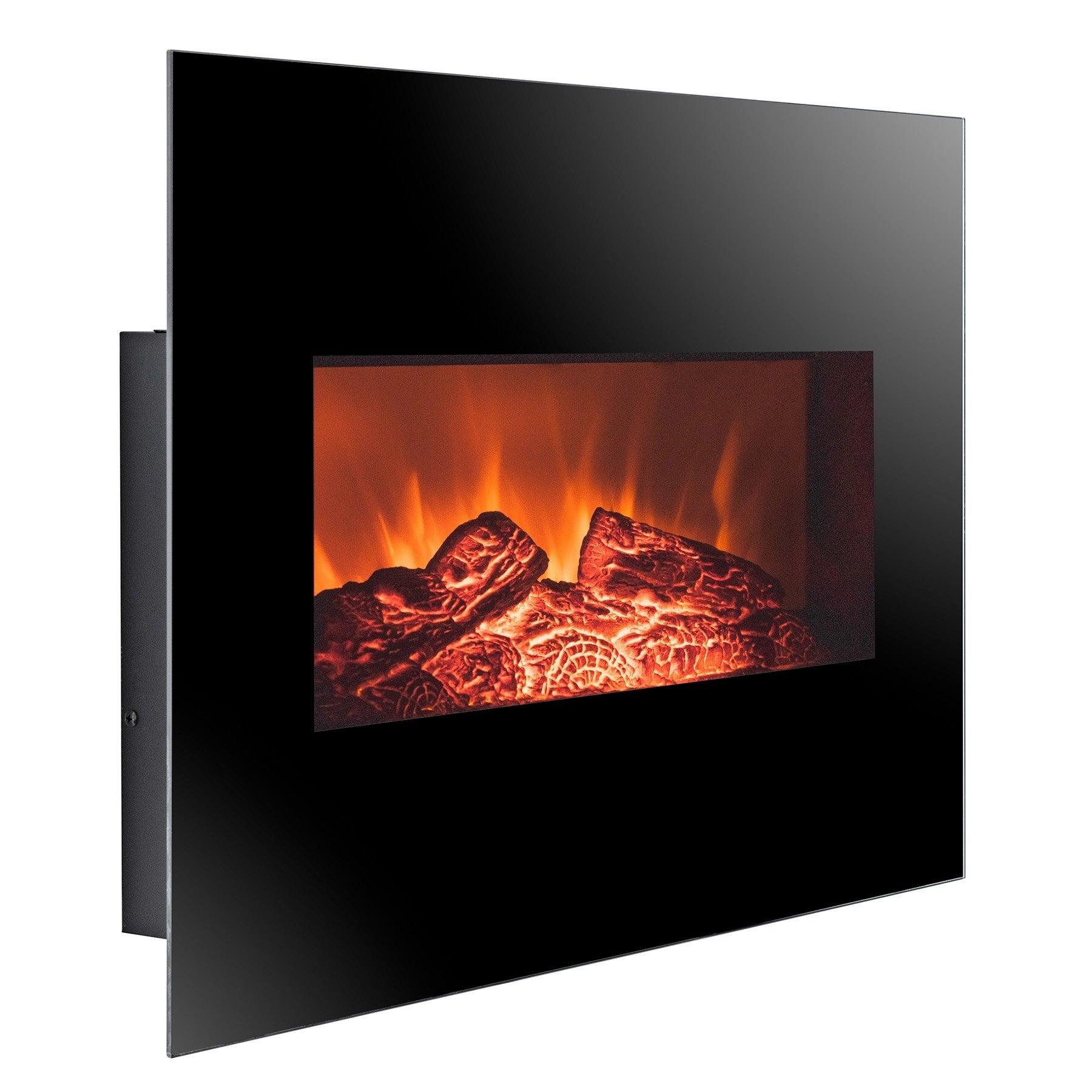 Golden Vantage FP0063 26 Wall Mount Electric Fireplace 3D Flames Firebox w Logs Heater 12f6 4229 b810 f229bad65c62