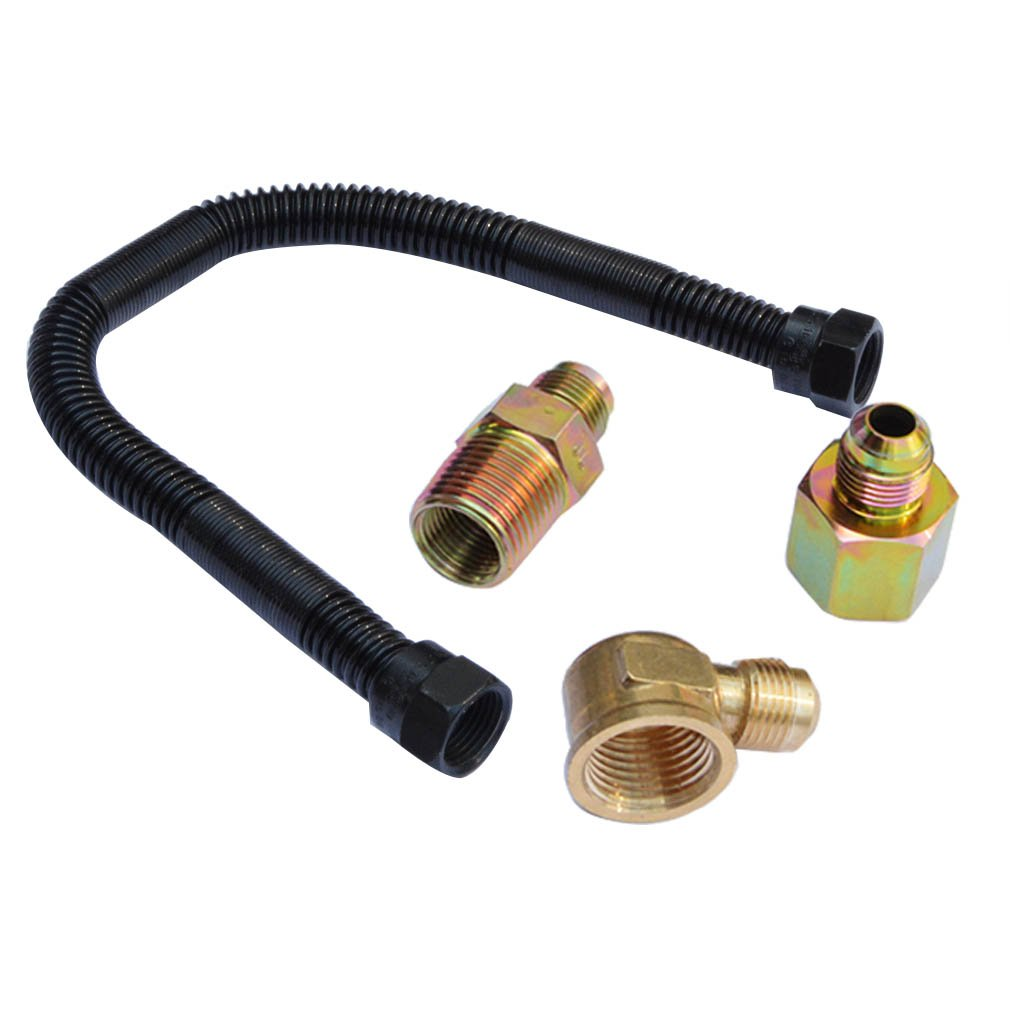 """Gas Fireplace Burner Pipe Unique Stanbroil 3 8"""" X 12"""" Non Whistle Flexible Flex Gas Line Connector Kit for Ng or Lp Fire Pit and Fireplace"""