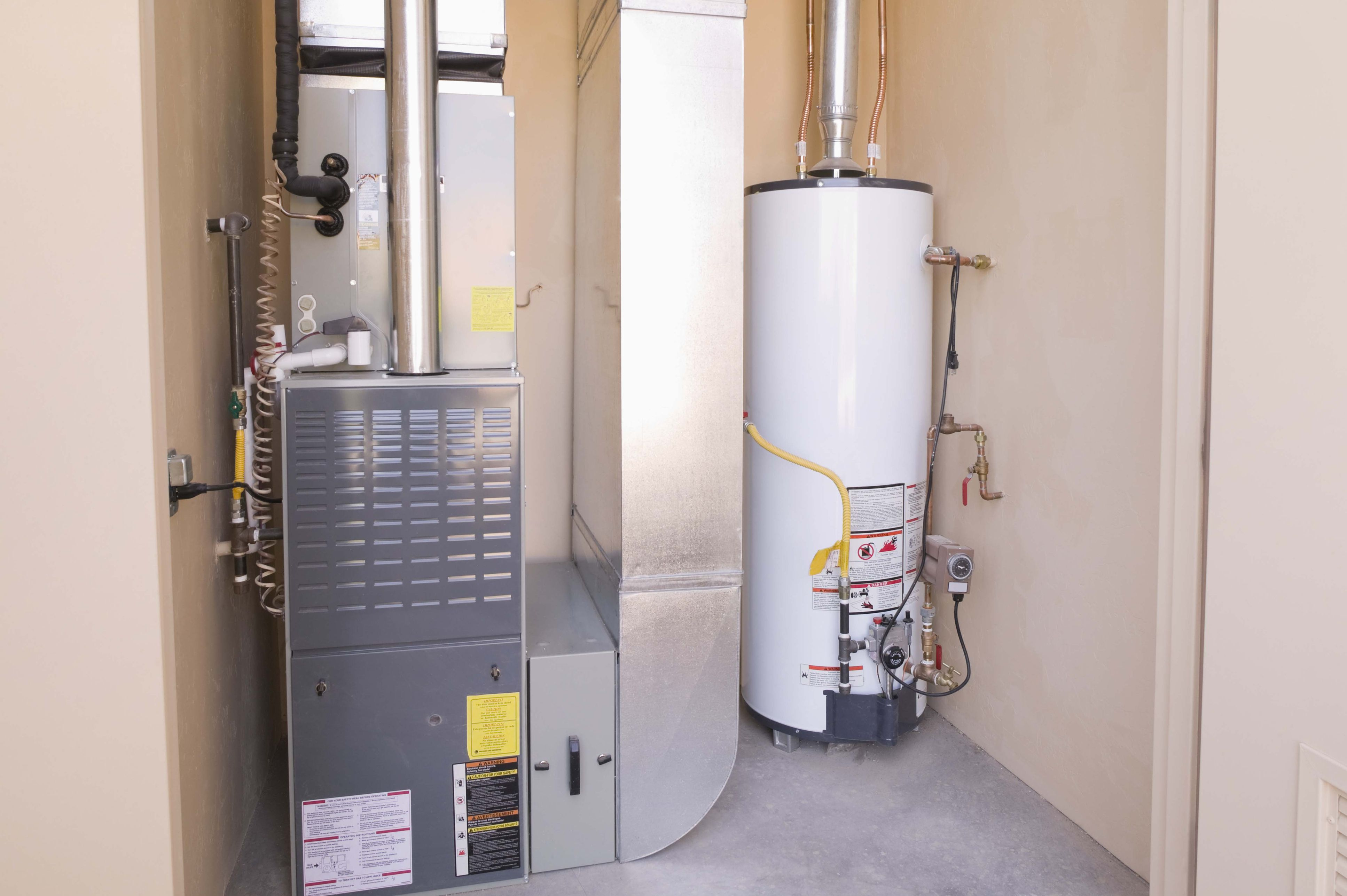 hot water heater and furnace in basement 580f79c75f9b ce0a260