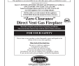 """Gas Fireplace with Electric Switch Awesome Zero Clearance"""" Direct Vent Gas Fireplace"""