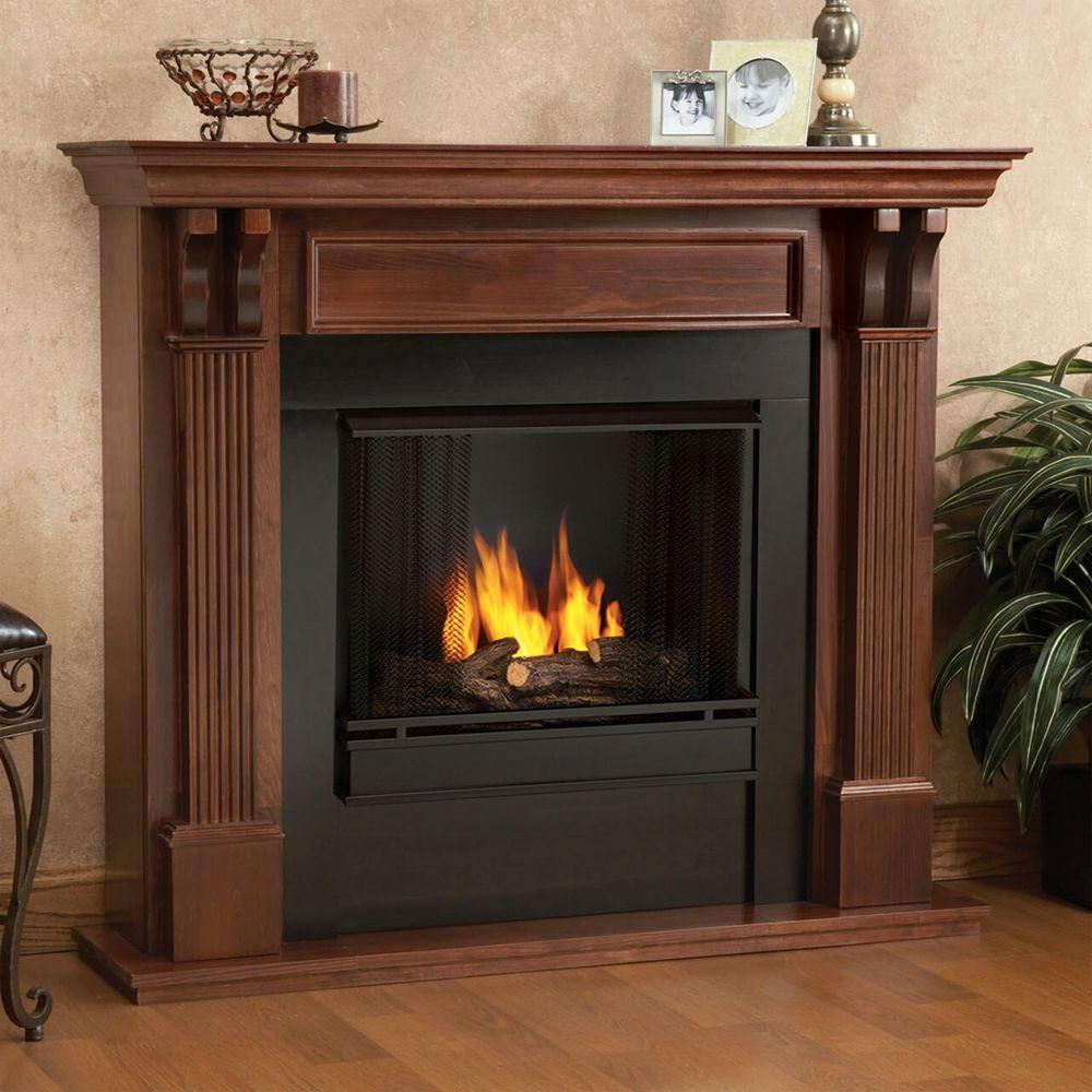 mahogany real flame gel fireplaces 7100 m 64 1000