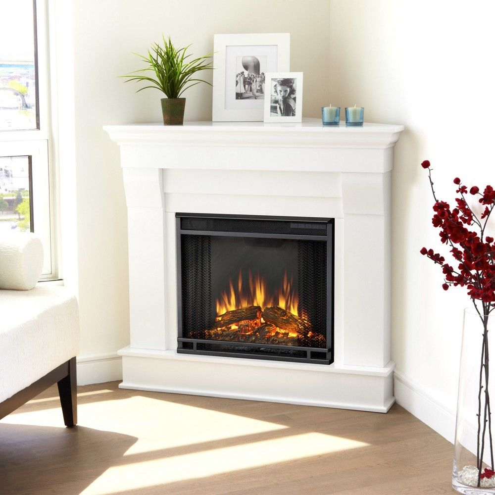 Gel Flame Fireplace Inspirational Real Flame Chateau Corner Electric Fireplace White White