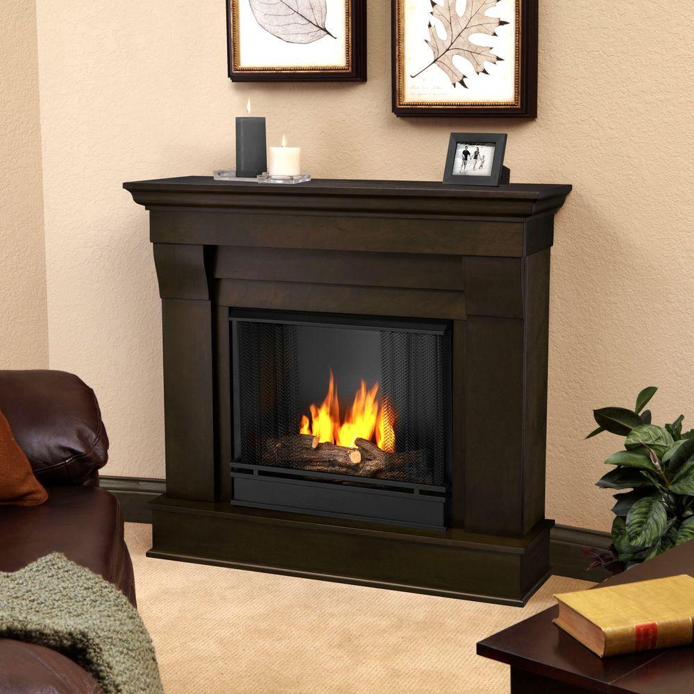 walnut real flame gel fireplaces 5910 dw 64 1000