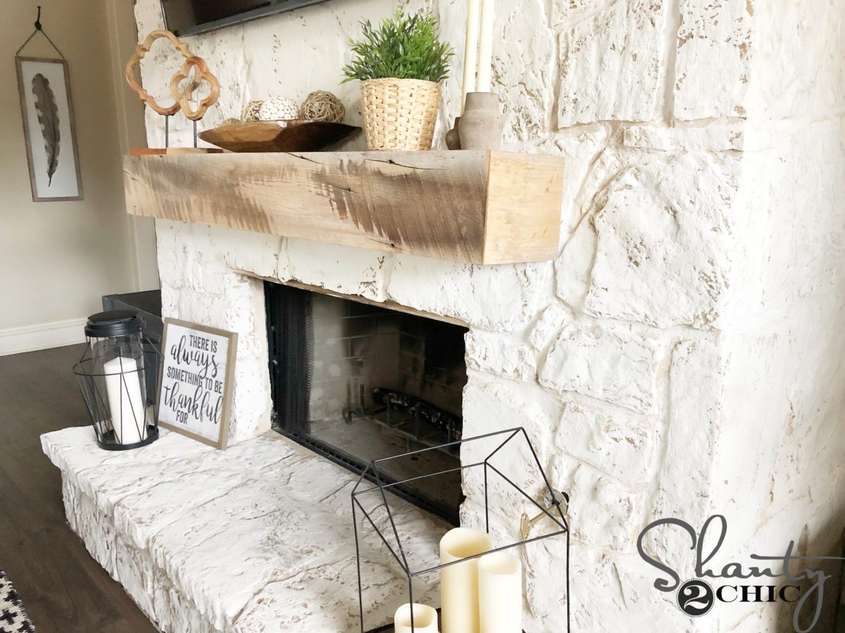 How to German Schmear a Fireplace