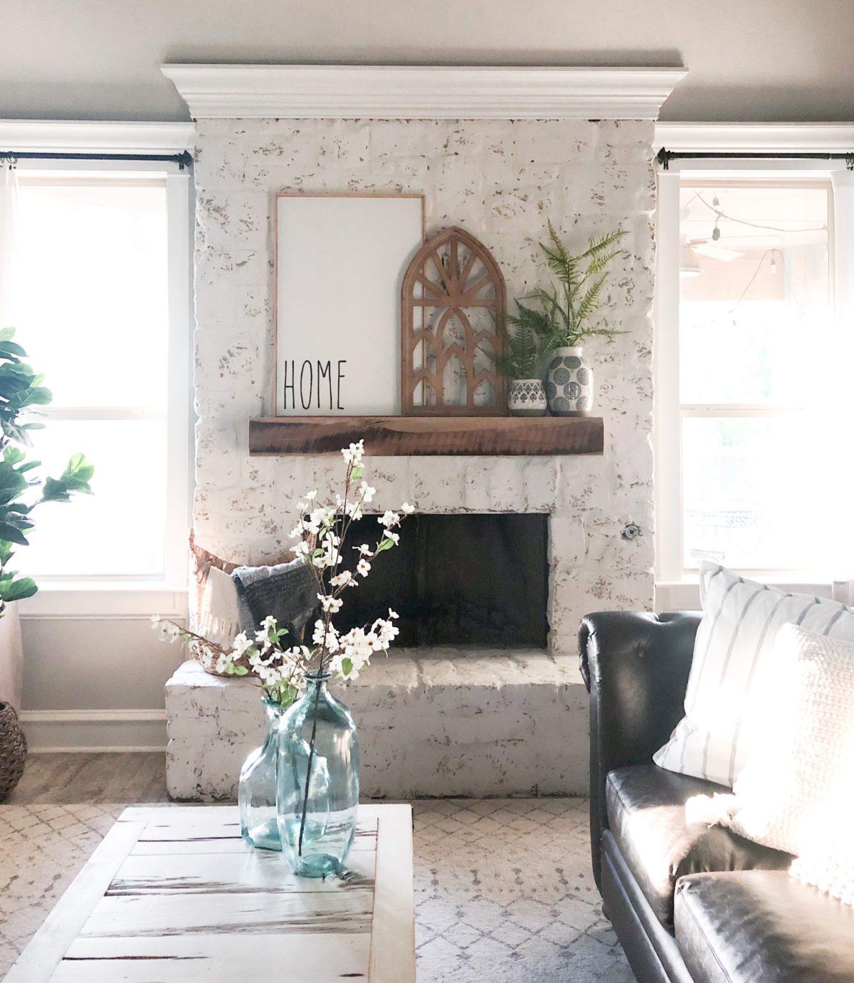 DIY German Schmear Fireplace