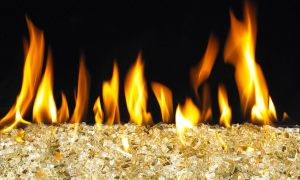 21 Elegant Glass Bead Fireplace