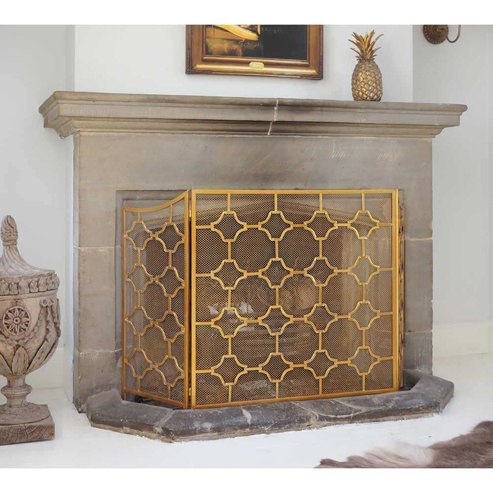 Gold Fireplace tools Fresh Gold Fireplace Screen Charming Fireplace