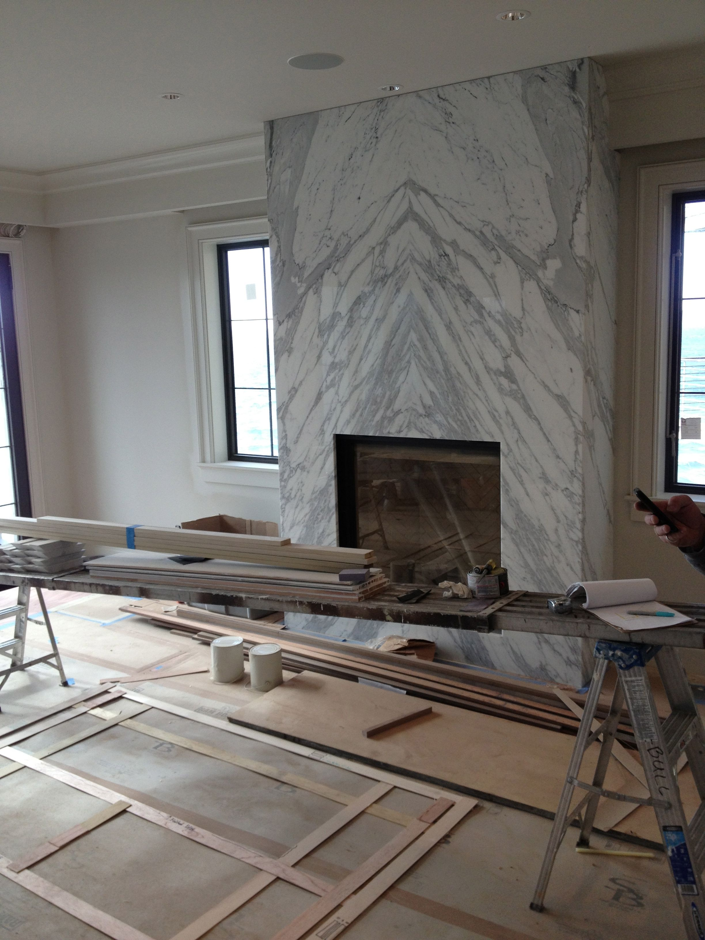 Granite Slab for Fireplace Hearth Lovely Contemporary Slab Stone Fireplace Calacutta Carrara Marble