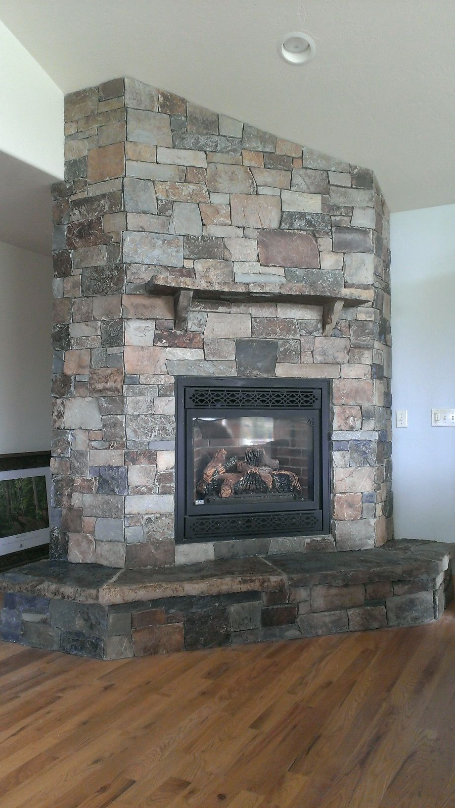 Granite Slab for Fireplace Hearth New Castle Rock Ledge Thin Veneer by Montana Rockworks