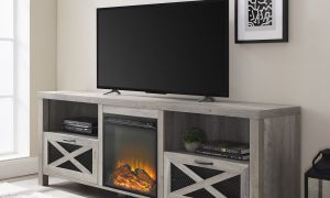 16 Luxury Gray Electric Fireplace Tv Stand