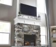 Gray Stone Fireplace Elegant Diy Fireplace with Stone & Shiplap