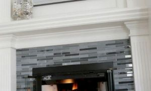 10 Elegant Gray Tile Fireplace