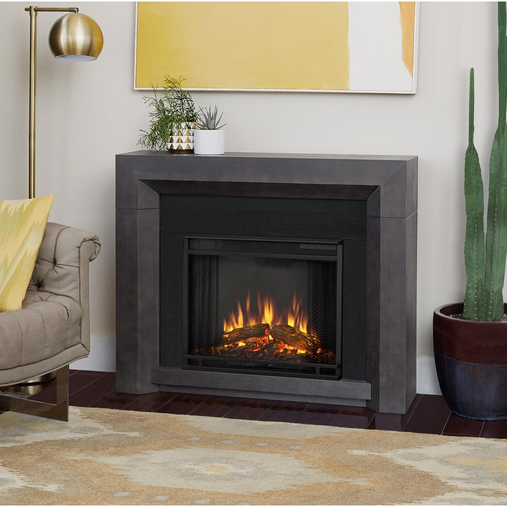 gray real flame freestanding electric fireplaces 3001e gry 64 1000