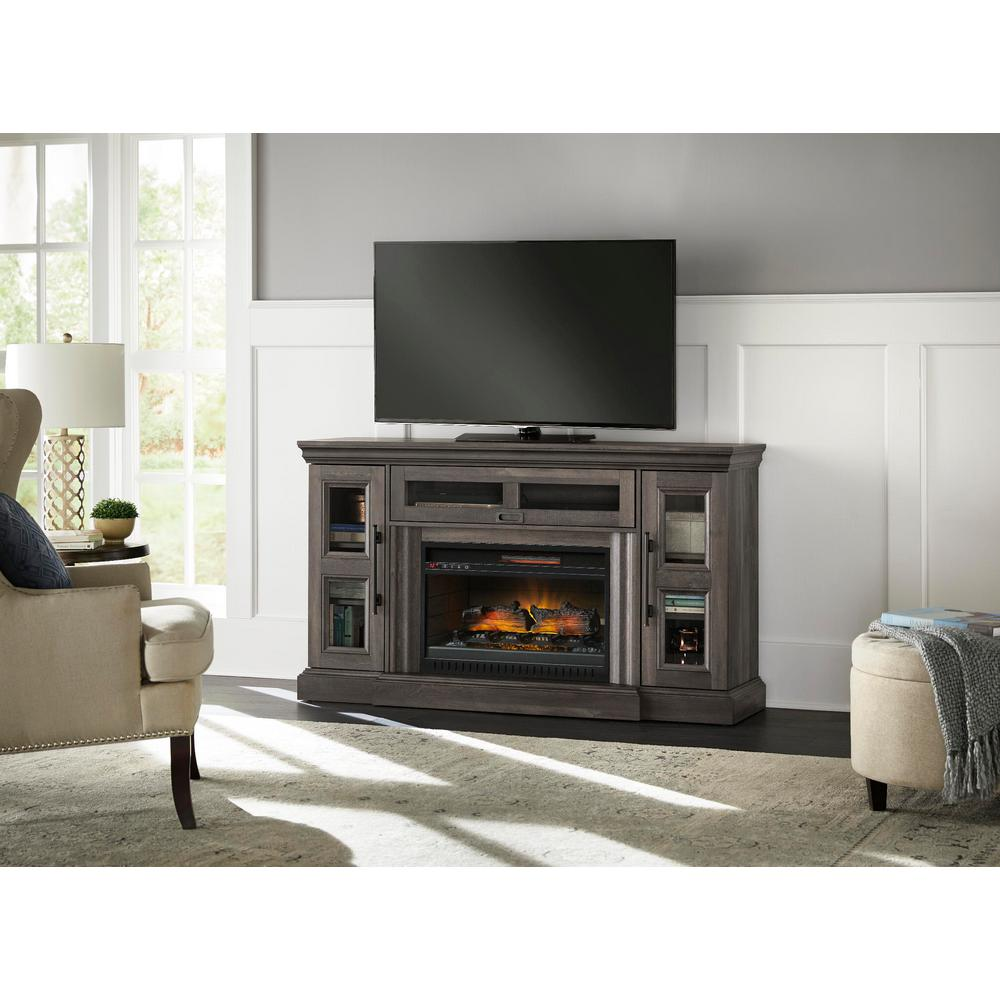 gray aged oak home decorators collection fireplace tv stands wsfp60hd 39 64 1000