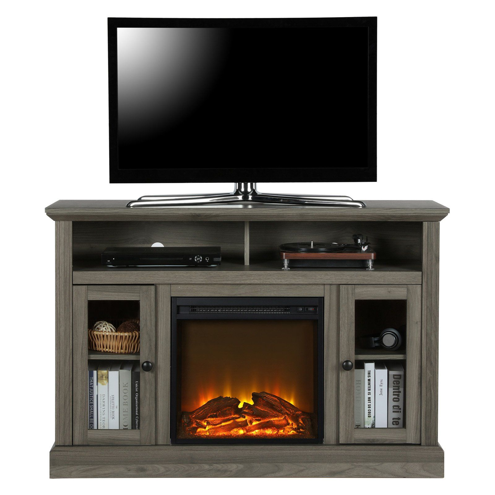 Grey Electric Fireplace Tv Stand Unique Ameriwood Home Chicago Electric Fireplace Tv Stand In 2019