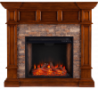 Heat and Glo Fireplace Review Beautiful southern Enterprises Merrimack Simulated Stone Convertible Electric Fireplace
