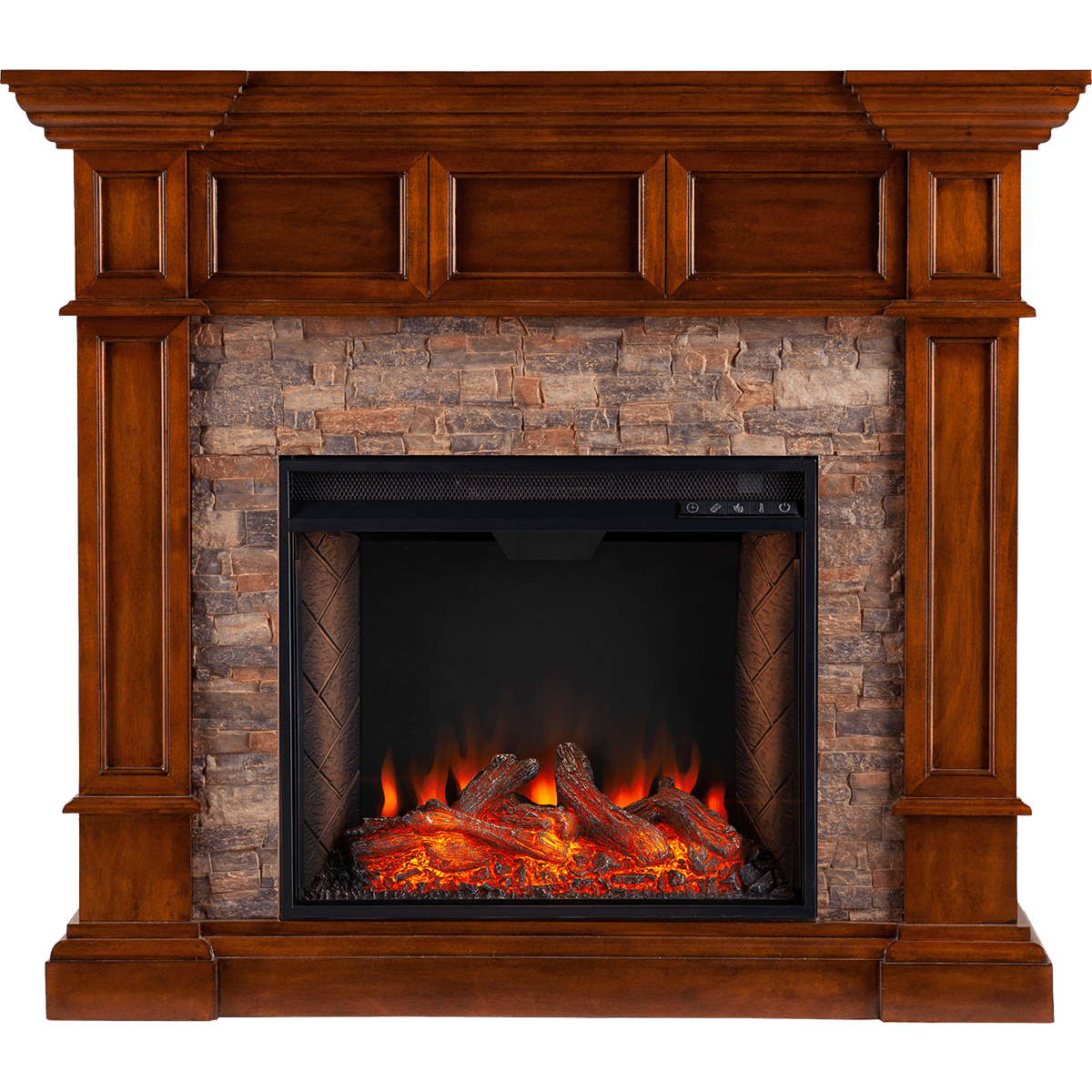 southern enterprises merrimack smart alexa enabled simulated stone convertible electric fireplace oak main