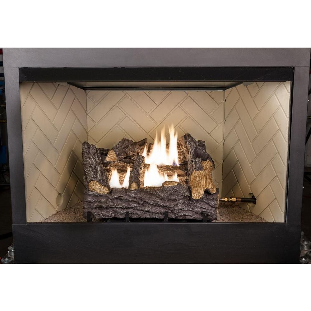 emberglow ventless gas fireplace logs tcvfm18nldc c3 1000