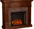 Heat N Glo Fireplace Flame Adjustment Elegant southern Enterprises Merrimack Simulated Stone Convertible Electric Fireplace