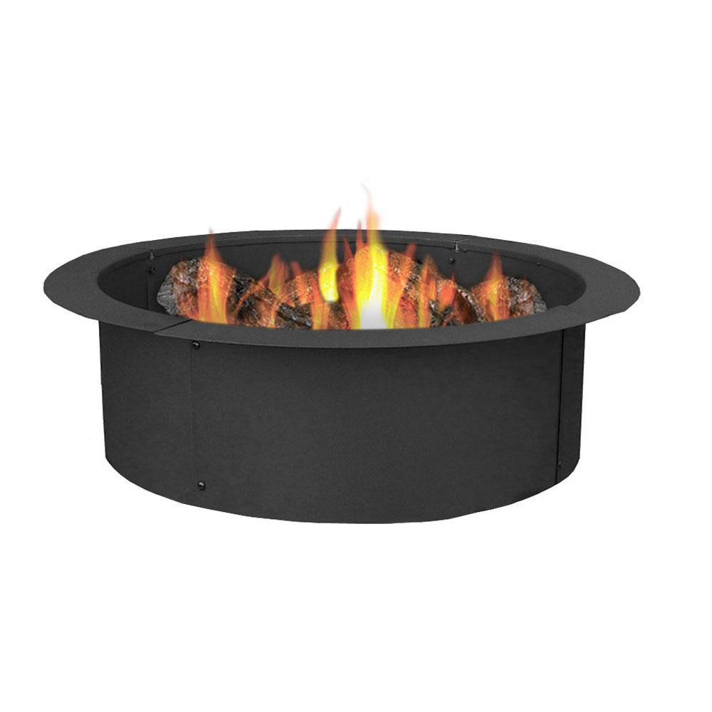 black sunnydaze decor fire pit kits nb fpr101 64 1000