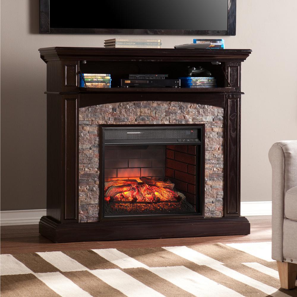 ebony southern enterprises corner electric fireplaces hd 64 1000