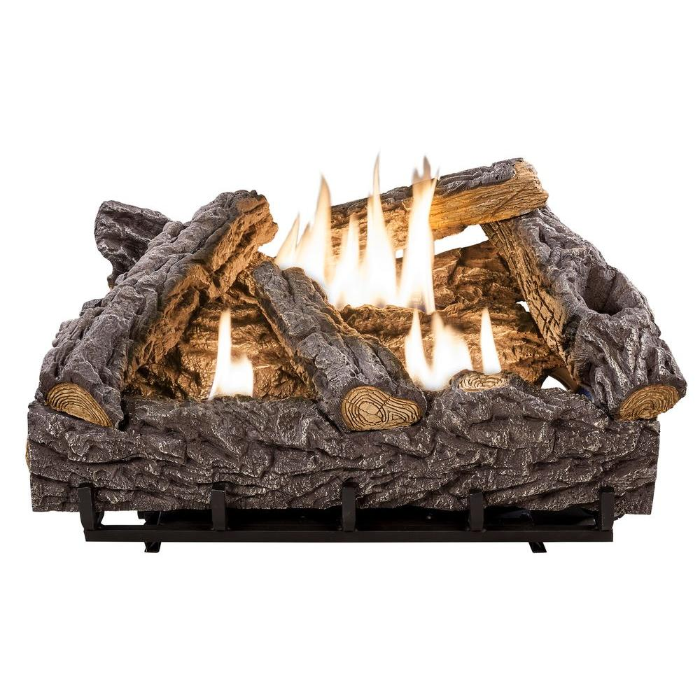 emberglow ventless gas fireplace logs tcvft24nldc 64 1000