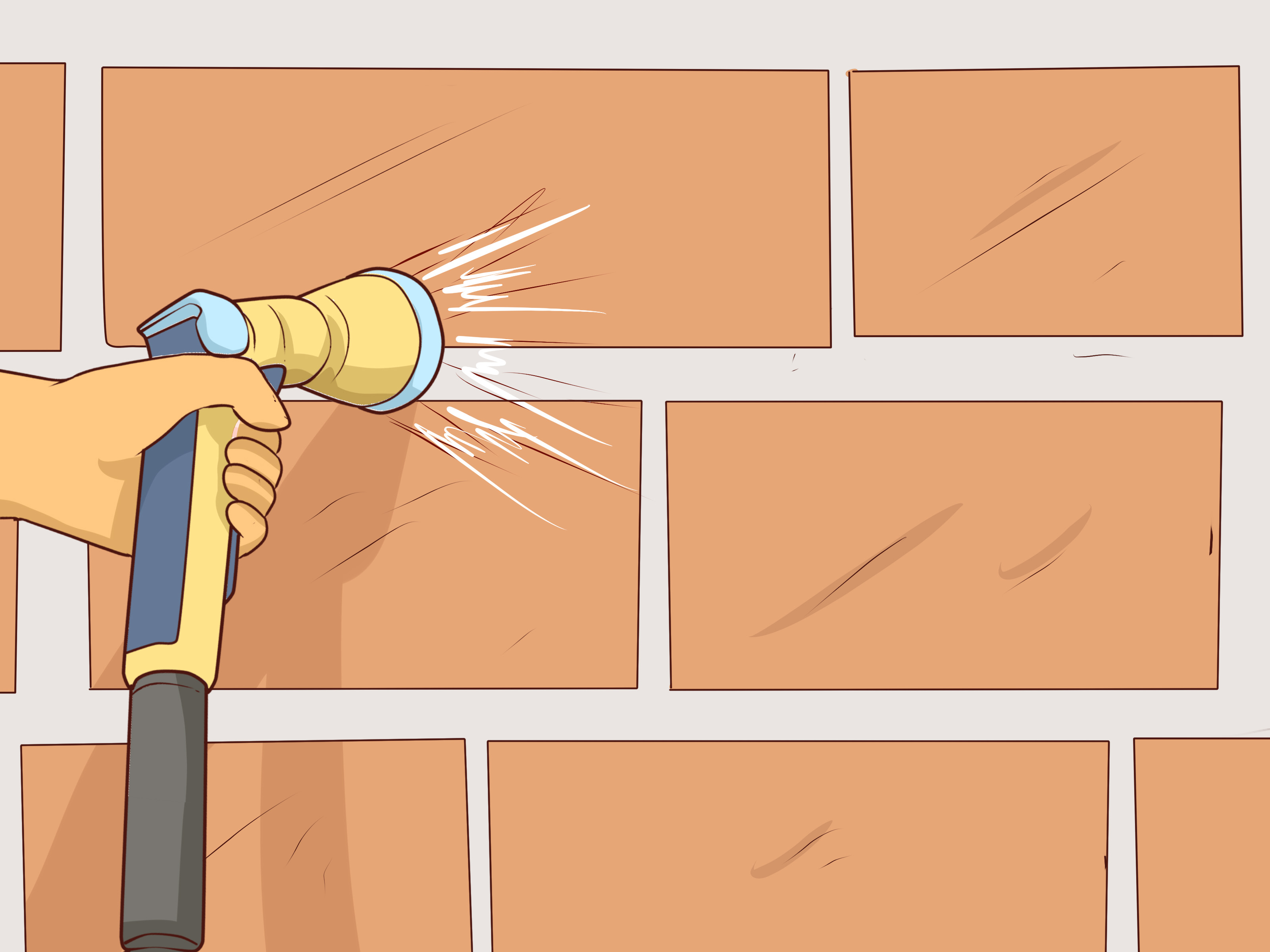 Clean Mortar f Bricks Step 16