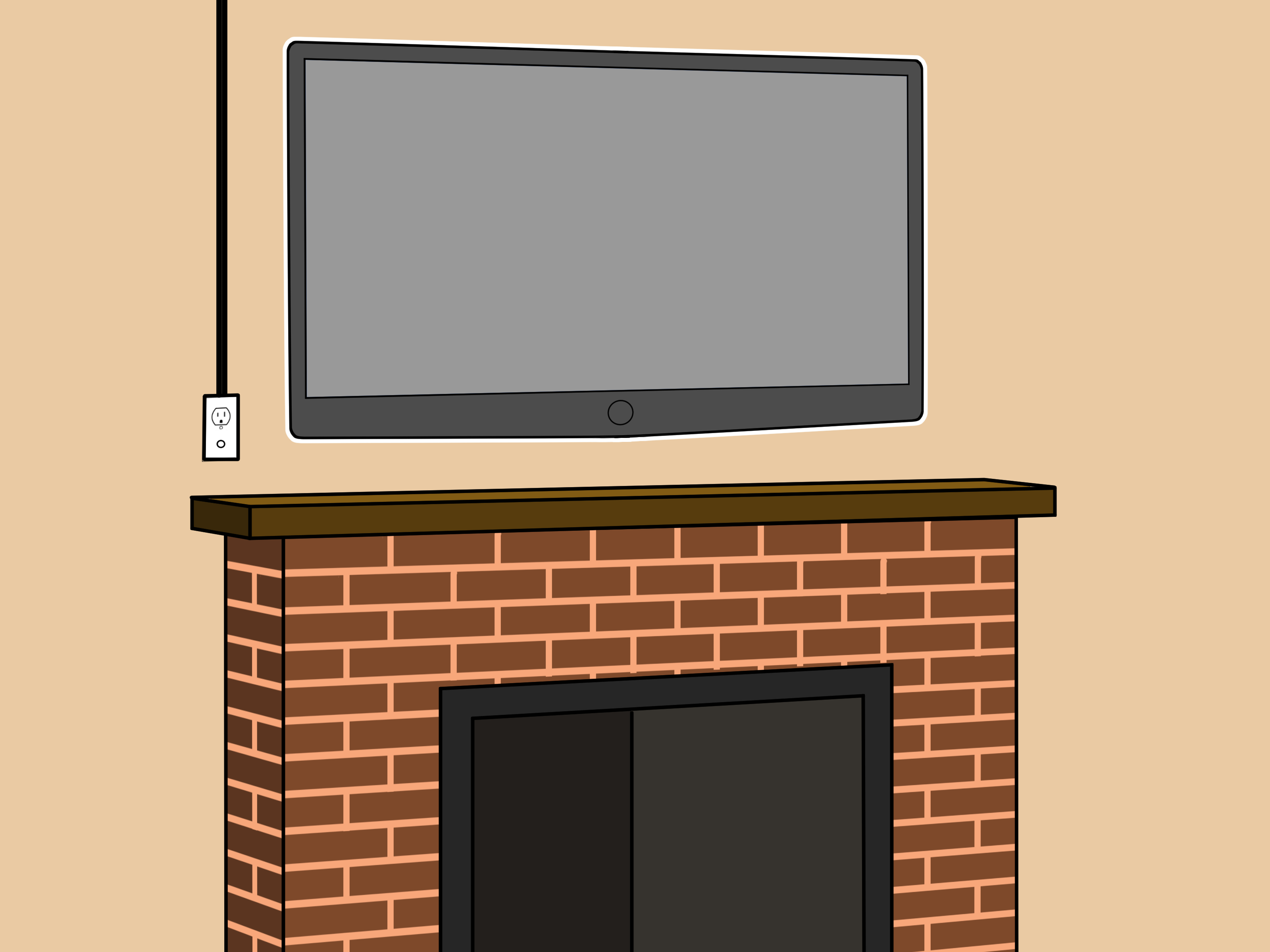 How to Hang Tv Over Fireplace Beautiful How to Mount A Fireplace Tv Bracket 7 Steps with