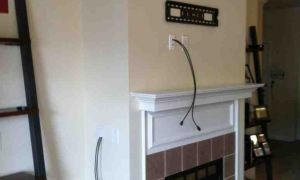 10 Lovely How to Hide Tv Wires Over Fireplace