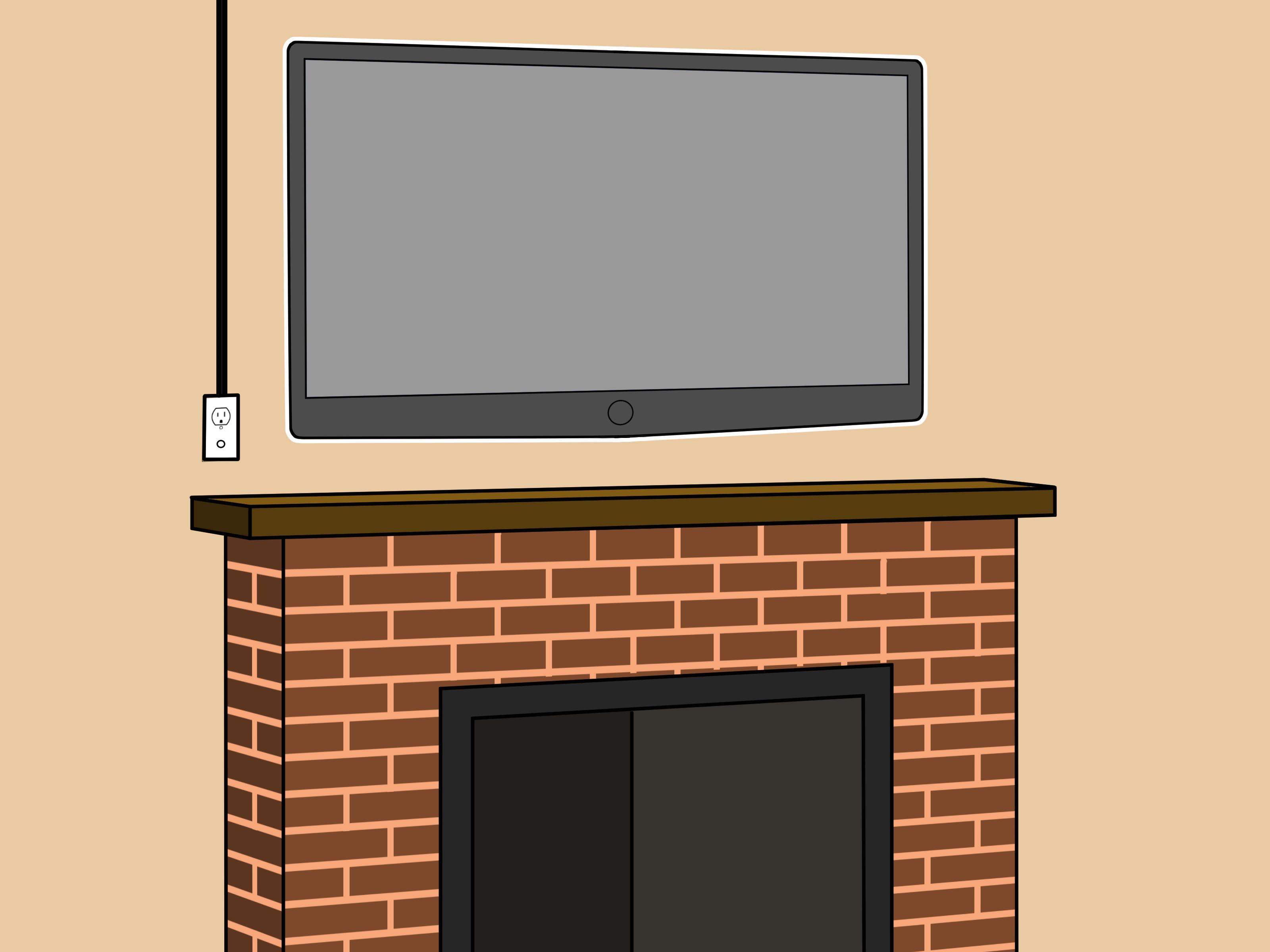 Mount a Fireplace TV Bracket Step 7