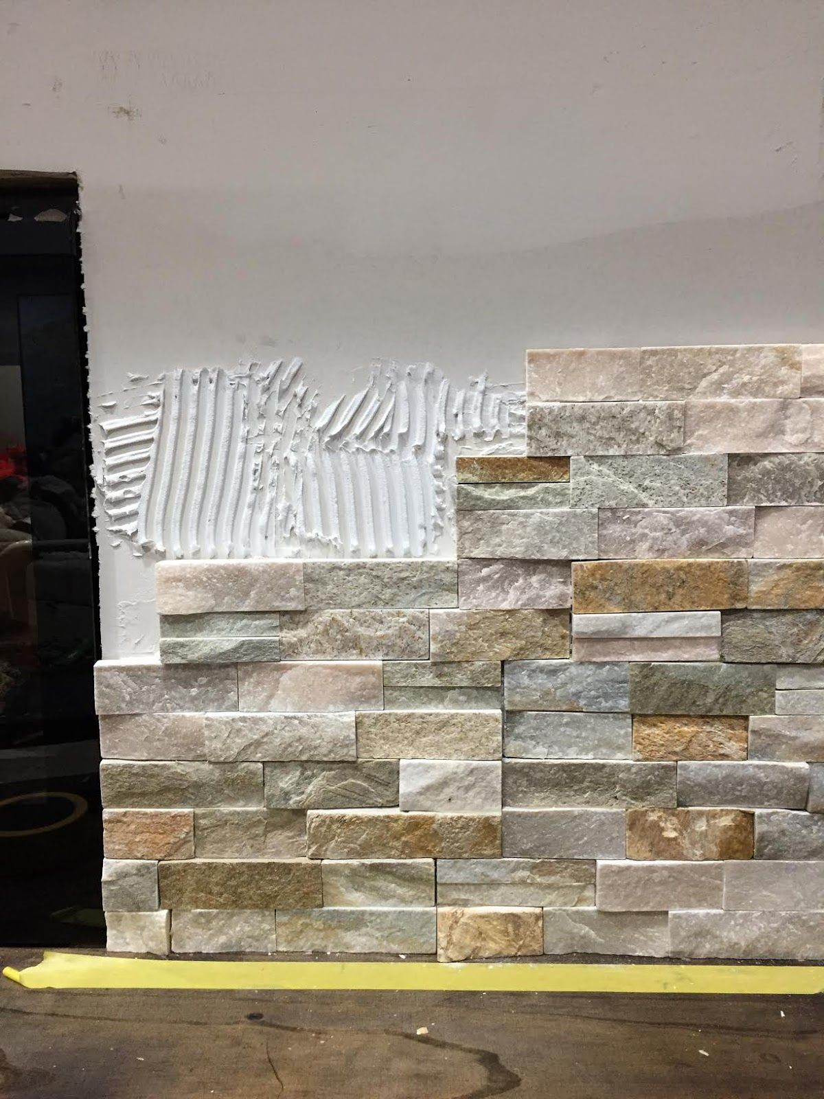 How to Install Stone On Fireplace Elegant How to Install Stacked Stone Tile On A Fireplace Wall