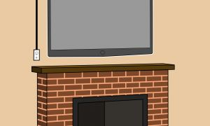 18 Beautiful How to Mount Tv On Brick Fireplace