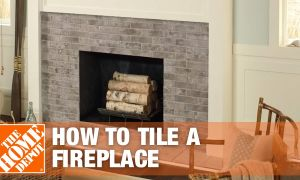 29 Lovely How to Tile Around Fireplace