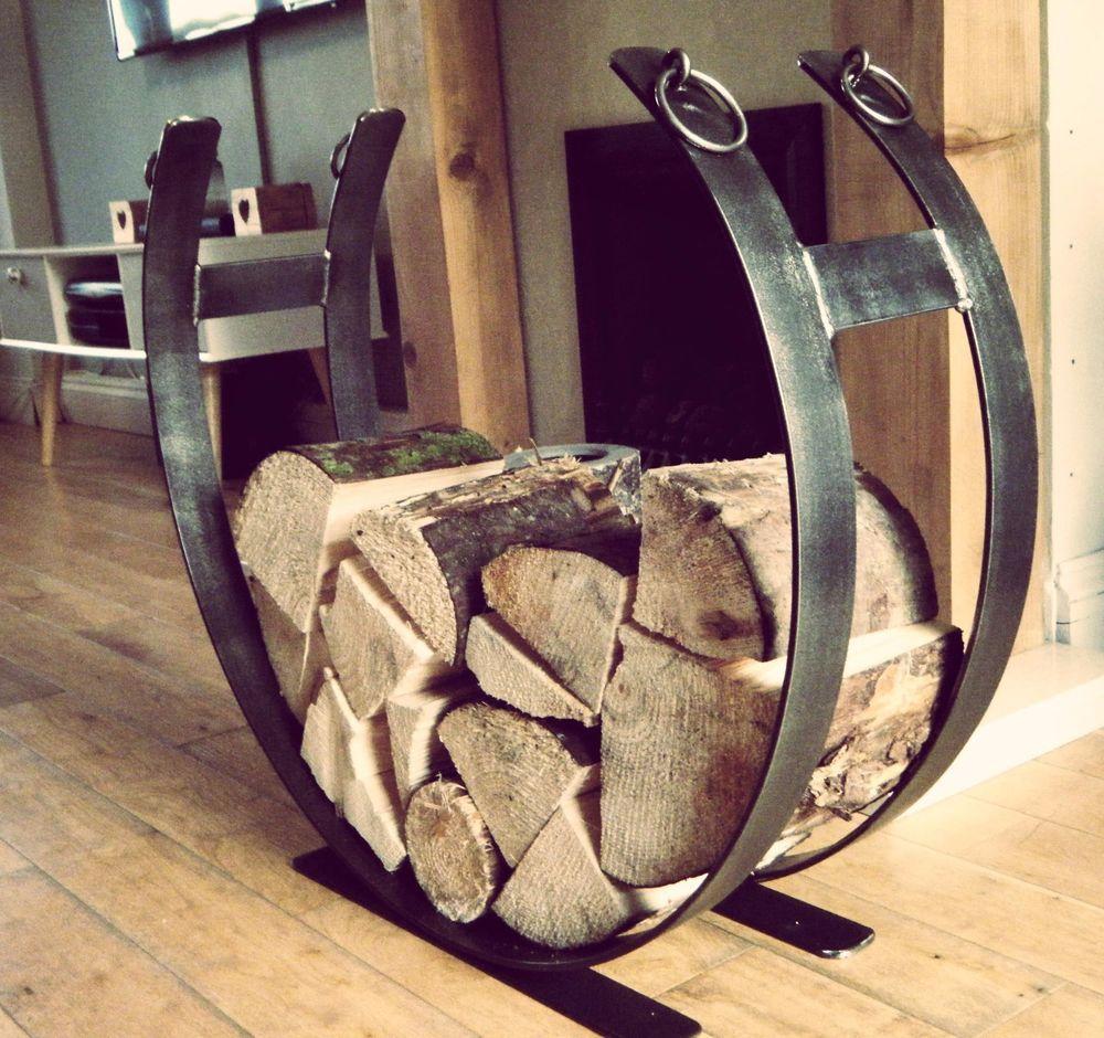 Indoor Log Holder for Fireplace Elegant Wrought Iron Log Holder Log Basket Log Storage Fire Place