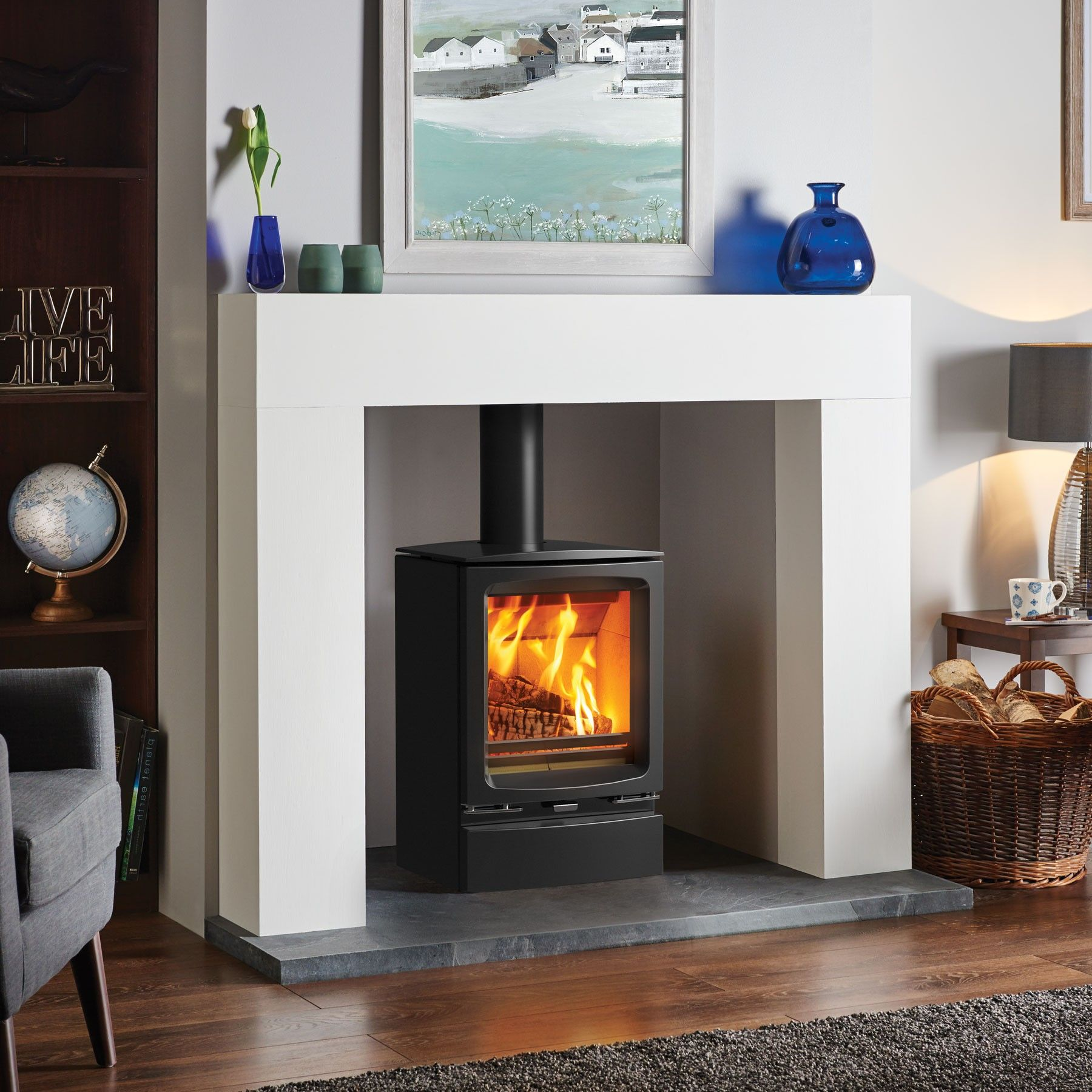 Inset Fireplace Beautiful Stovax Vogue Midi Wood Burning Stove without Plinth