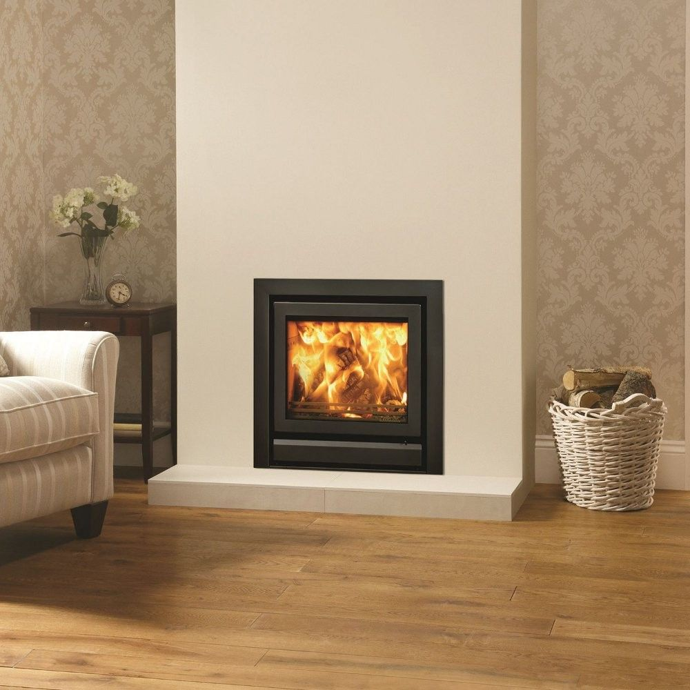 Inset Fireplace Fresh Stovax Riva 50 with 3 Sided Standard Profil Frame In Jet